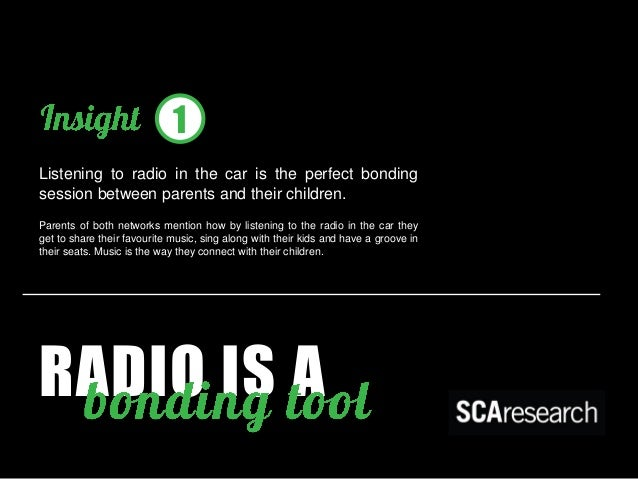 1  RADIO IS A  Listening to radio in the car is the perfect bonding session between parents and their children.  Parents o...
