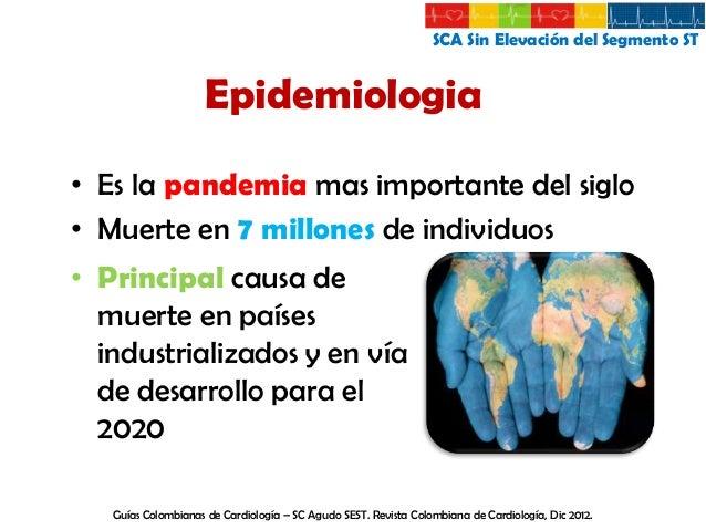 SCA Sin Elevación del Segmento ST  Epidemiologia  Epidemiologia del SCA y la insuficiencia Cardiaca en Latinoamérica. Revi...