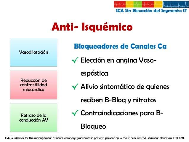 SCA Sin Elevación del Segmento ST  Terapia Antiplaquetaria Acido Acetil-Salicilico  Dosis Inicial 300 mg Sin cubierta ente...