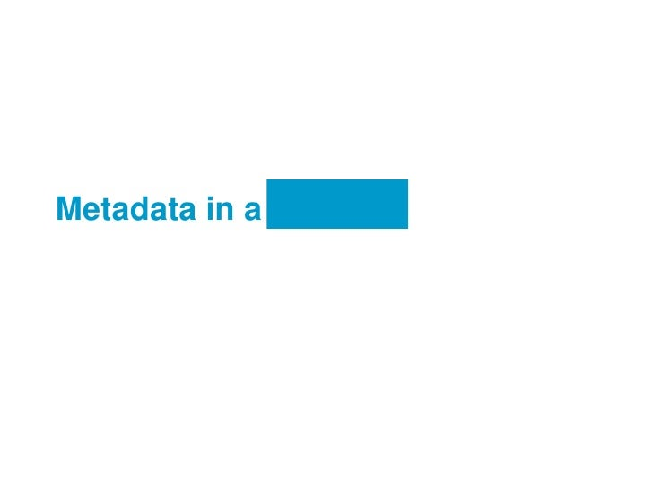 Metadata in a Crowd