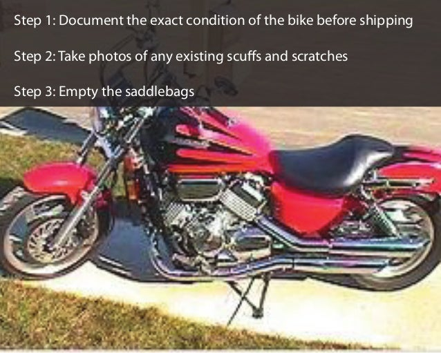 How to Prepare a Motorcycle For Auto Shipping Slide 2