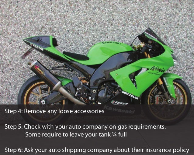 How to Prepare a Motorcycle For Auto Shipping Slide 3
