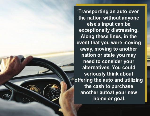 How Much Does it Cost to Transport a Car across the Country? Slide 2