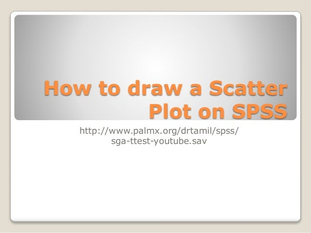 How to draw a Scatter Plot on SPSS http://www.palmx.org/drtamil/spss/ sga-ttest-youtube.sav