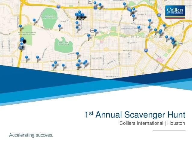 1st Annual Scavenger Hunt Colliers International | Houston
