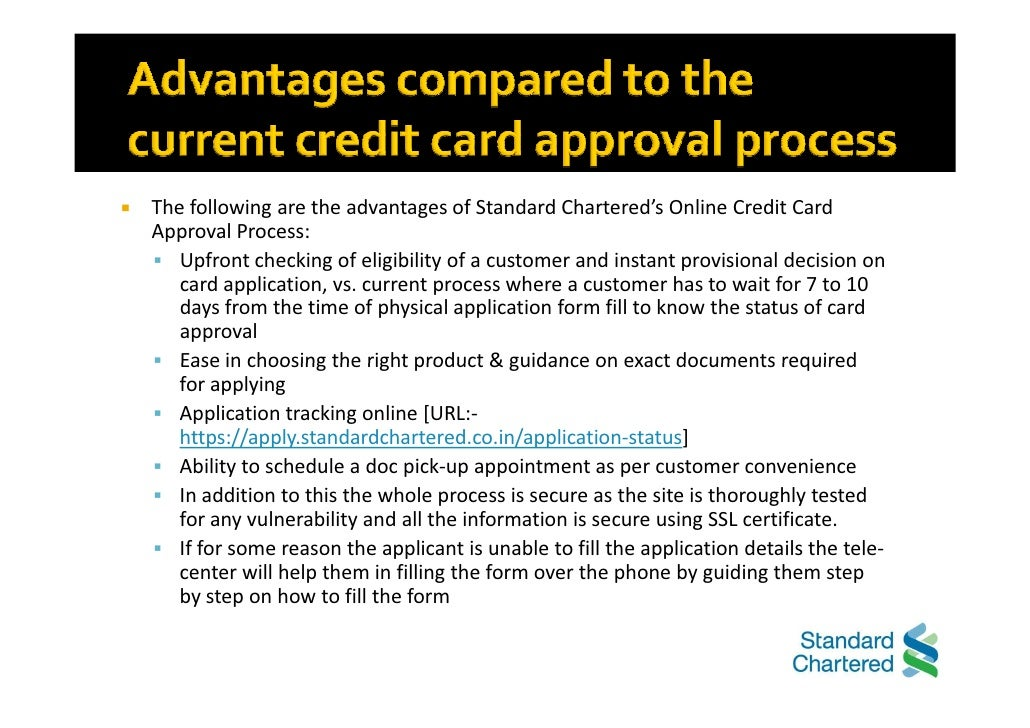 Standard chartered bank benefits of online credit card aip 4 customer can apply for a credit card reheart Image collections