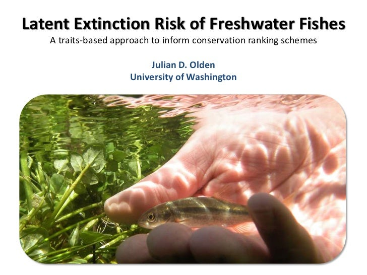 Latent Extinction Risk of Freshwater Fishes   A traits-based approach to inform conservation ranking schemes              ...