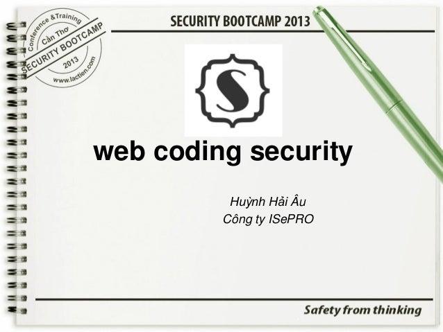 web coding security Huỳnh Hải Âu Công ty ISePRO