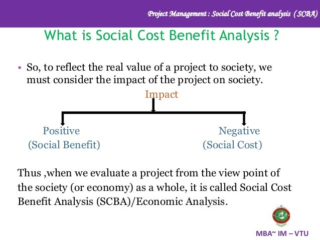 4. Project Management : Social Cost Benefit Analysis ...