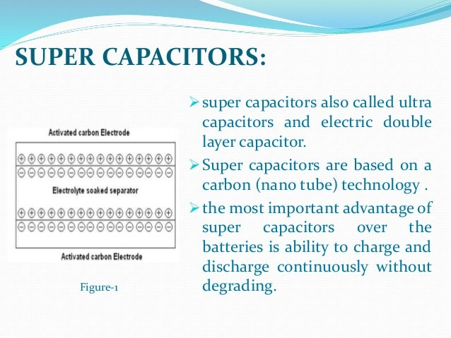 super capacitors and battery power management for hybrid