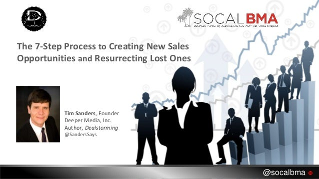 Tim Sanders, Founder Deeper Media, Inc. Author, Dealstorming @SandersSays The 7-Step Process to Creating New Sales Opportu...