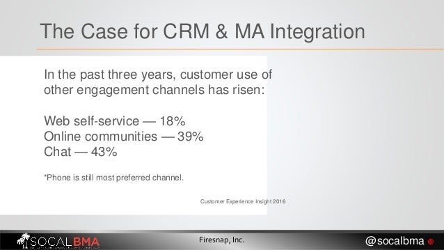 In the past three years, customer use of other engagement channels has risen: Web self-service — 18% Online communities — ...