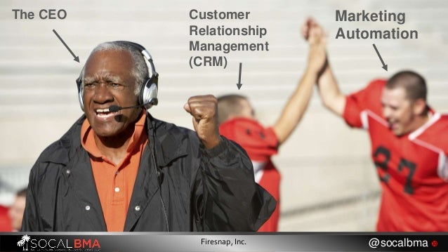 Customer Relationship Management (CRM) Marketing Automation The CEO Firesnap, Inc. @socalbma 
