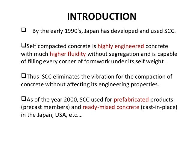 self compacted concrete High performance concrete (hsc) might be regarded as concrete with a strength  in excess of 60mpa and such concrete can be produced as relatively normal.