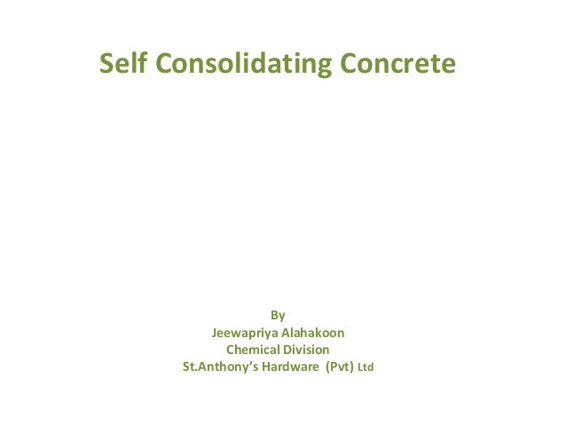 Self consolidating concrete slump test astm