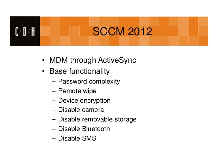 System Center Configuration Manager and Mobile Device Management