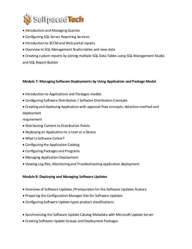 SCCM 2016 Online Training | SCCM 2016 Course | SCCM 2016 training | S…