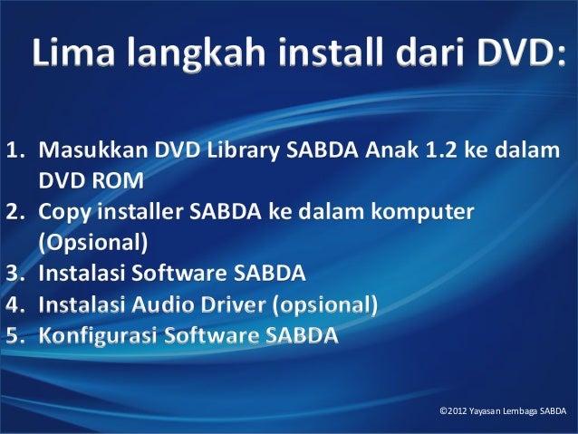 Cara Install dari DVD Library SABDA Anak 1.2 Slide 2