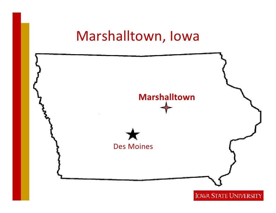 MarshalltownWaterPollutionControl                 Plant • Beganservicein1940 • Currentlyserves26,000people • Pla...