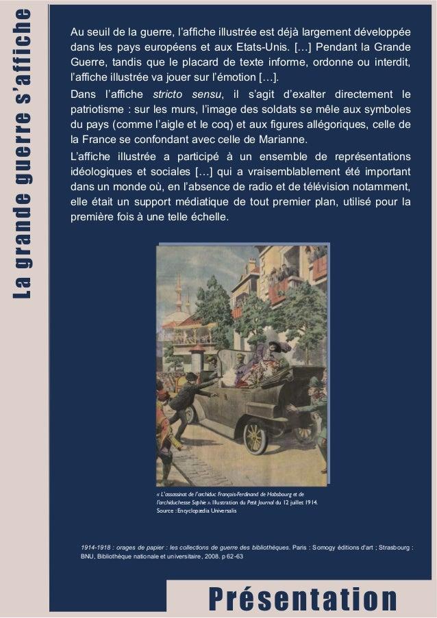 Au seuil de la guerre, l'affiche illustrée est déjà largement développée  dans les pays européens et aux Etats-Unis. […] P...