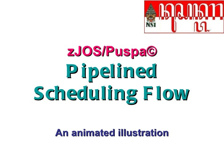 zJOS/Puspa© Pipelined Scheduling Flow An animated illustration