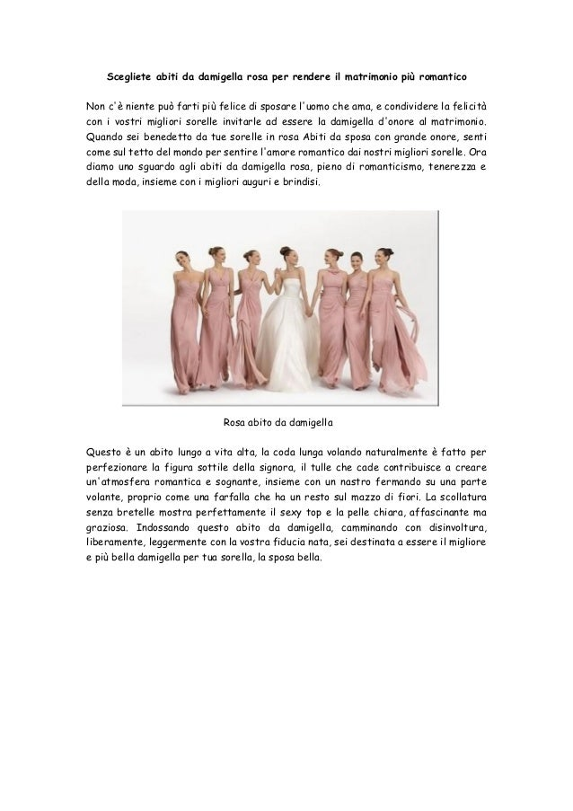 Scegliete abiti da damigella rosa per rendere il matrimonio più  romanticoNon cè niente può farti più ... 7bd9269123e