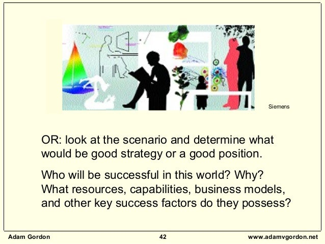 Adam Gordon 42 www.adamvgordon.net OR: look at the scenario and determine what would be good strategy or a good position. ...