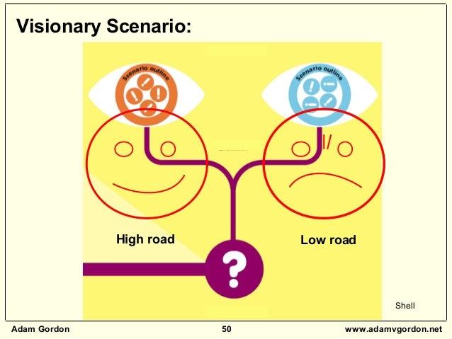 Adam Gordon 50 www.adamvgordon.net Visionary Scenario: High road Low road Shell