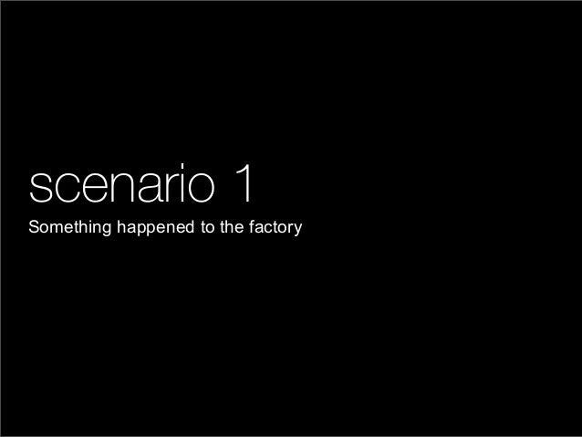 scenario 1Something happened to the factory