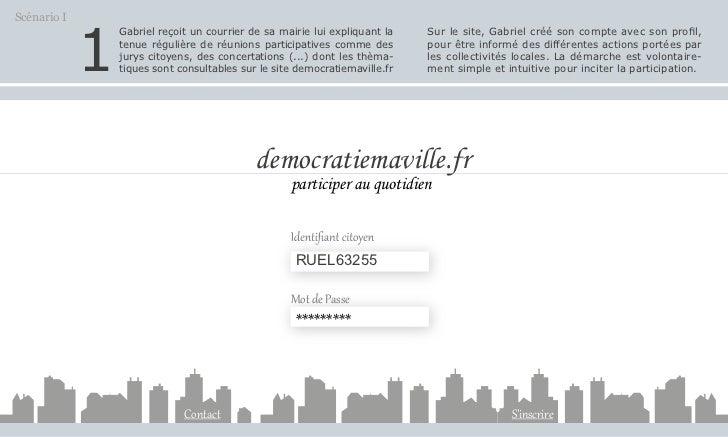 """Les scénarios de demain: """"Le numérique dans les démocraties locales""""- document de travail Slide 2"""