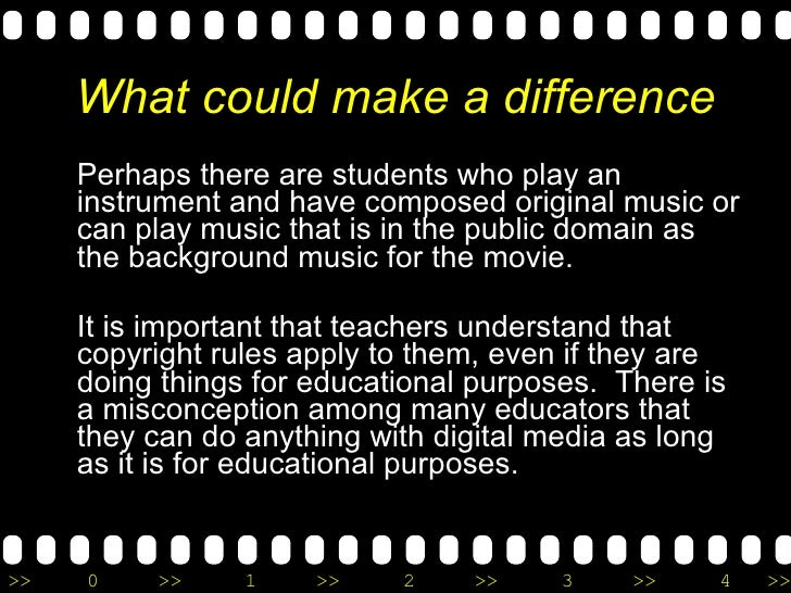 What could make a difference <ul><li>Perhaps there are students who play an instrument and have composed original music or...