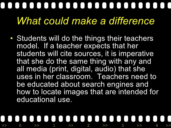 What could make a difference <ul><li>Students will do the things their teachers model.  If a teacher expects that her stud...