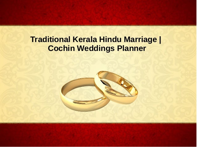 Traditional Kerala Hindu Marriage