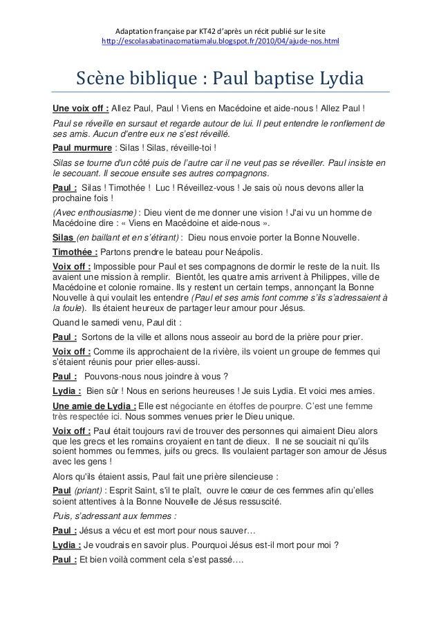 Adaptation française par KT42 d'après un récit publié sur le site http://escolasabatinacomatiamalu.blogspot.fr/2010/04/aju...