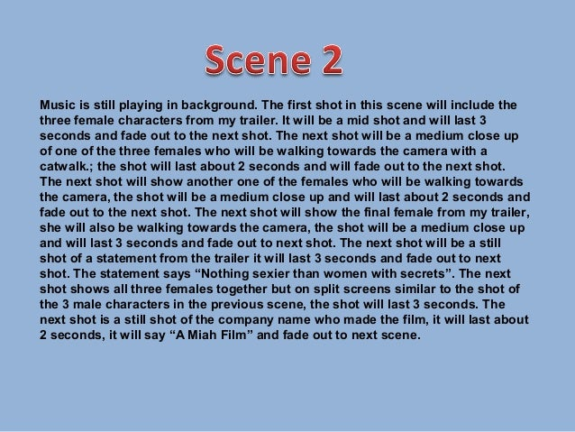 Scene by scene Slide 3
