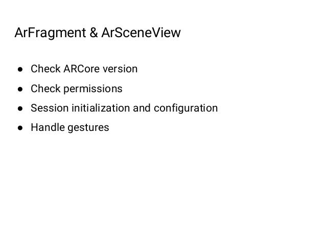 Sceneform SDK