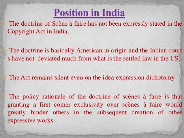 Scenes a faire in india