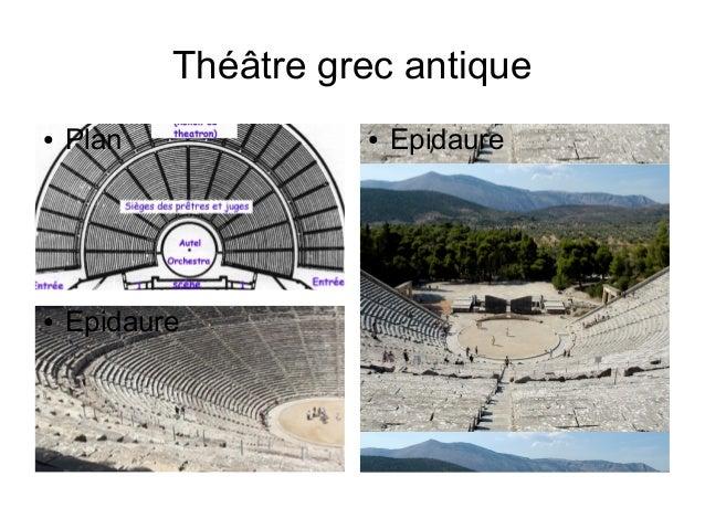 Théâtre grec antique ● Plan ● Epidaure ● Epidaure