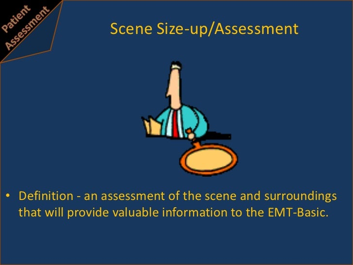 Scene size up and initial assessment