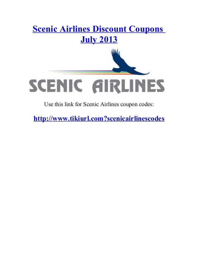 Scenic world discount coupons