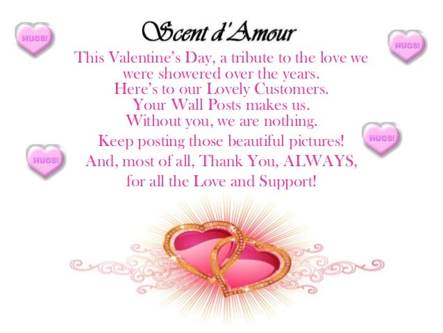 This Valentine's Day, a tribute to the love we       were showered over the years.     Here's to our Lovely Customers.    ...