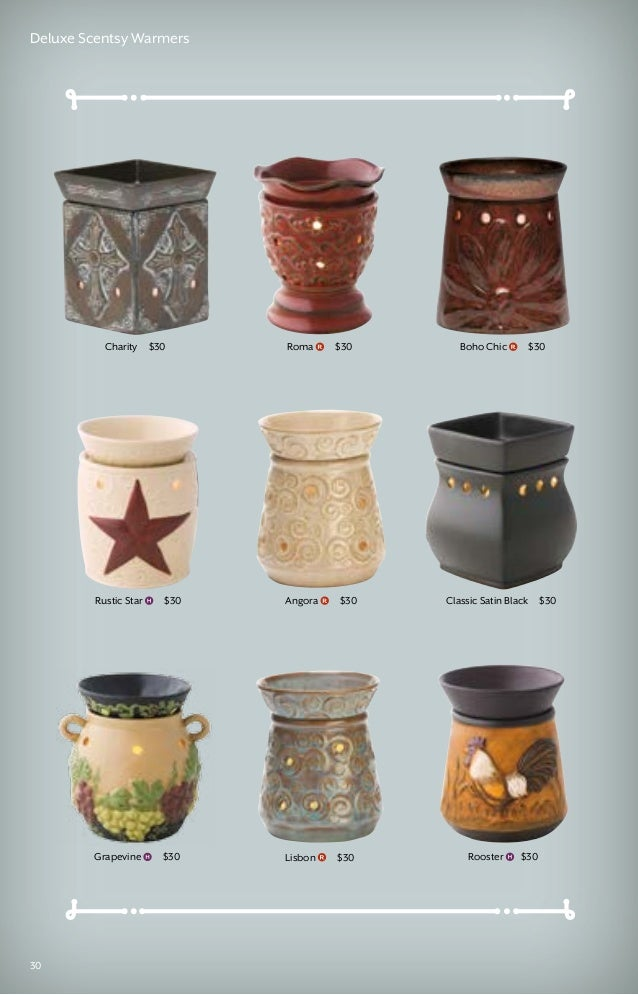29 Deluxe Scentsy Warmers 30 Roma Rooster Rustic Star