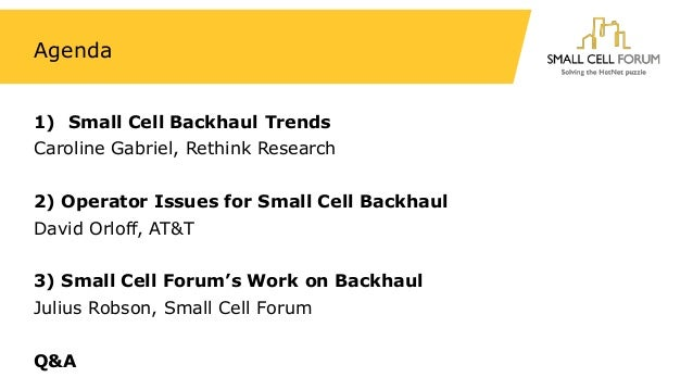 Small cell backhaul: progress, challenges and next steps Slide 2