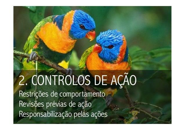 2. CONTROLOS DE AÇÃORestrições de comportamentoRevisões prévias de açãoResponsabilização pelas ações
