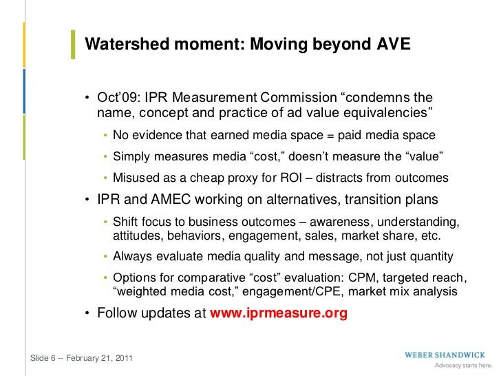"""Watershed moment: Moving beyond AVE              • Oct'09: IPR Measurement Commission """"condemns the                name, c..."""