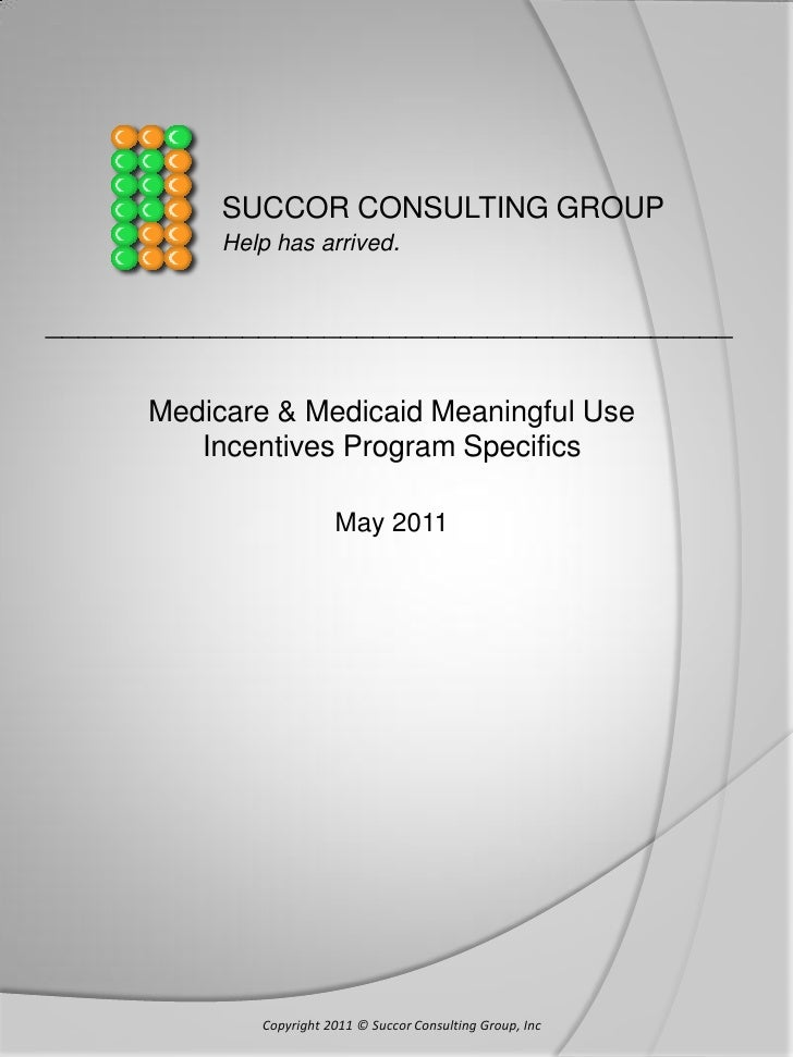 SUCCOR CONSULTING GROUP           Help has arrived.__________________________________________      Medicare & Medicaid Mea...