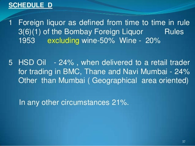 Bombay foreign liquor rules 1953