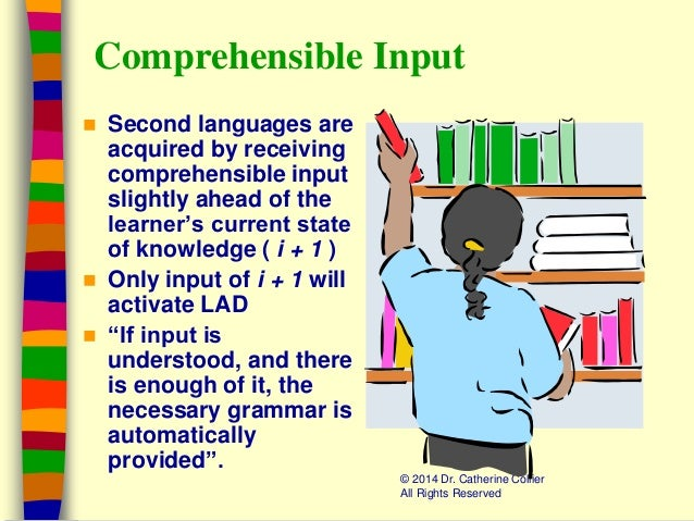 comprehensible input scaffolding and affective filter Krashen defines comprehensible input as krashen's affective filter hypothesis is another concept that has found wide acceptance with both researchers and ell.