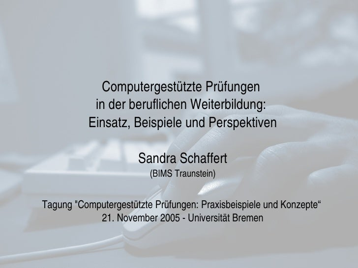 Schaffert Eklausur Bremen 11 2005