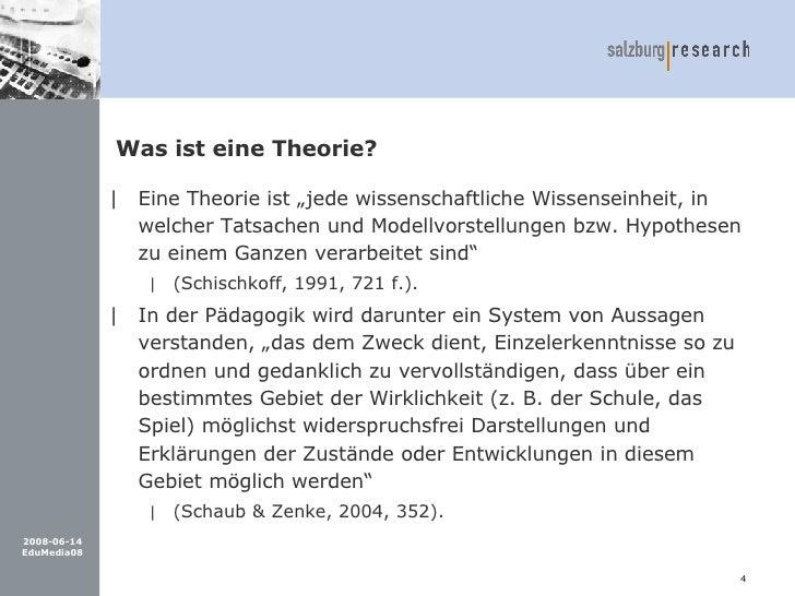 Was ist eine theorie vortrag zitieren